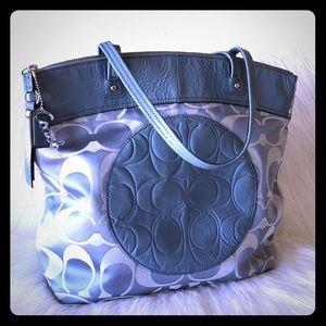 COACH Laura shoulder bag blue ToTe 🦋🌈
